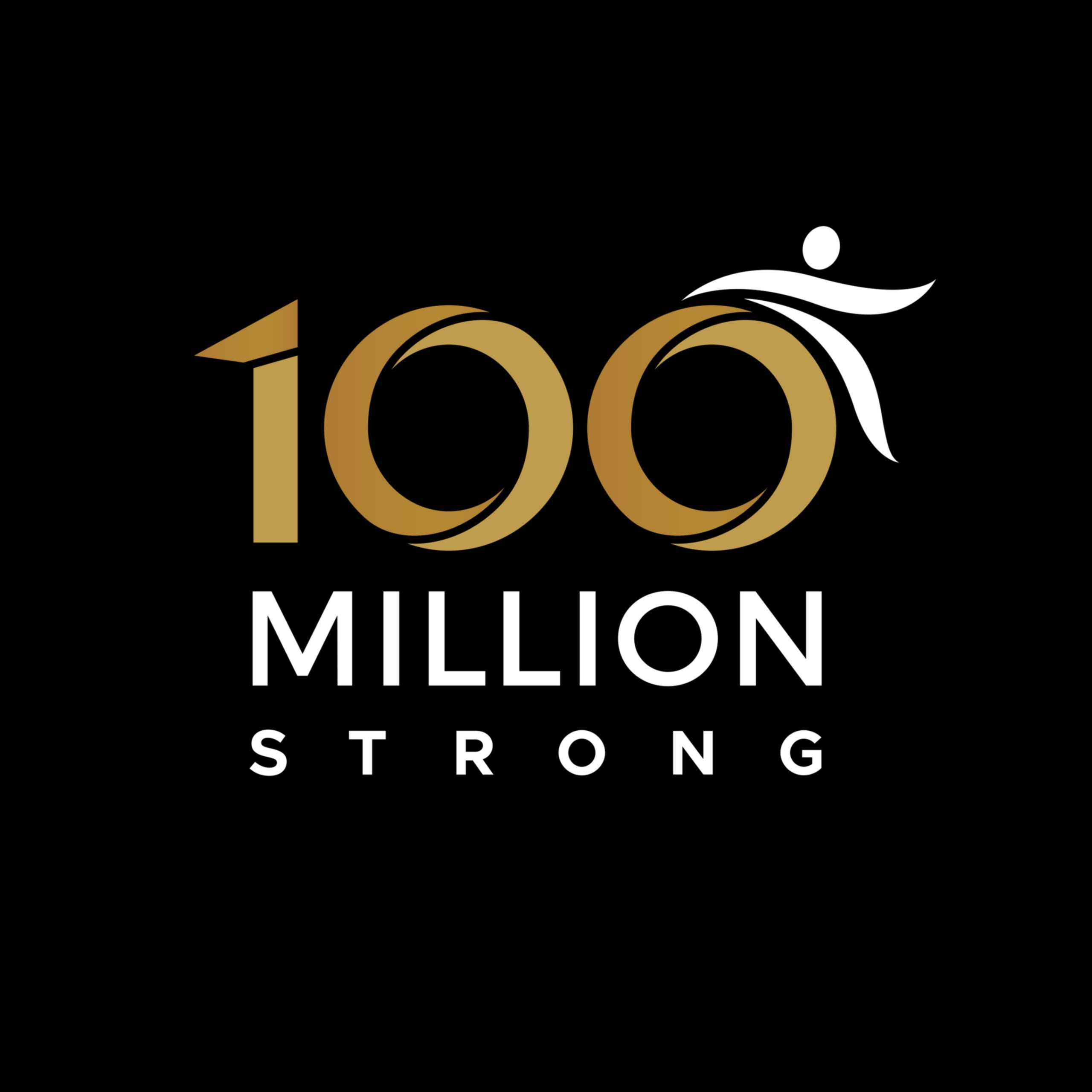 100 Million Strong logo design