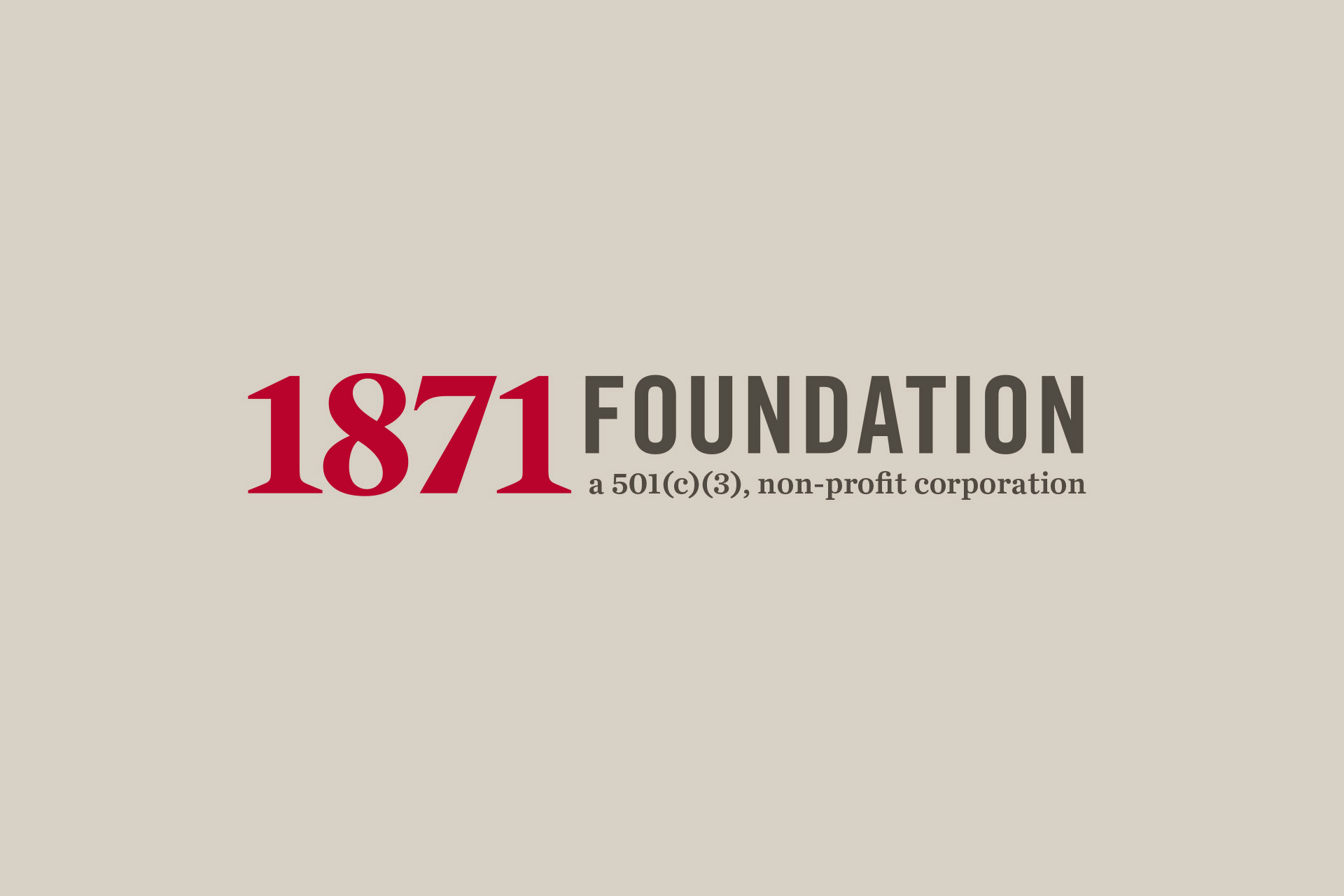 1871 Foundation logo design