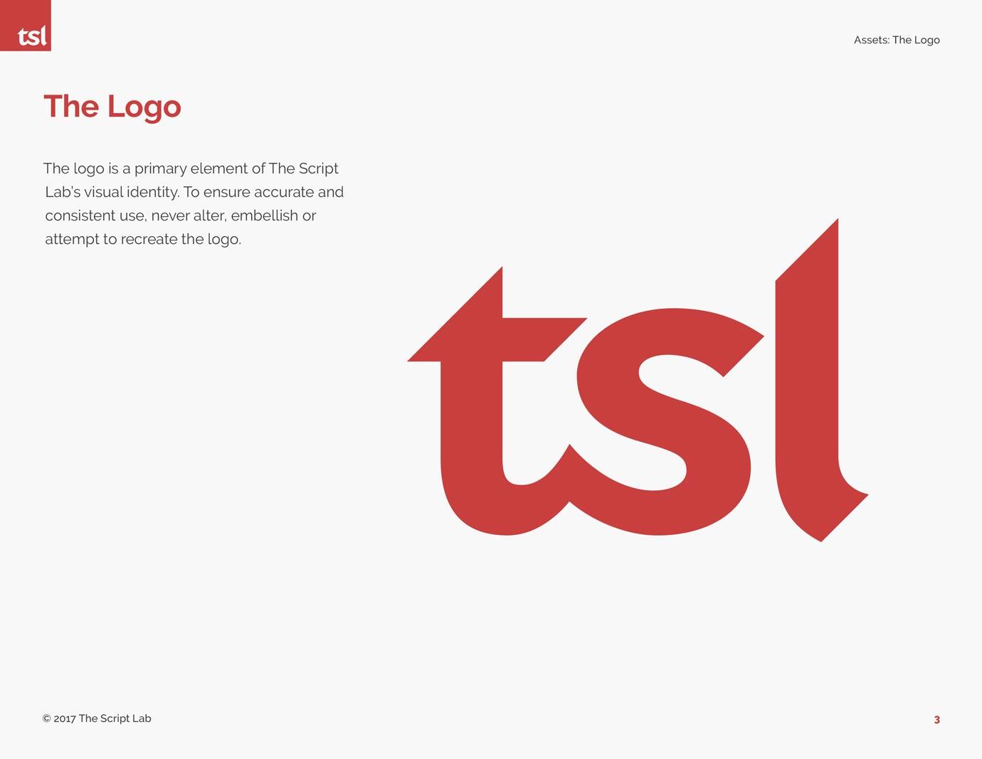 The Script Lab branding design