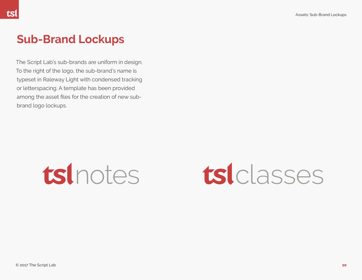 The Script Lab secondary logo designs