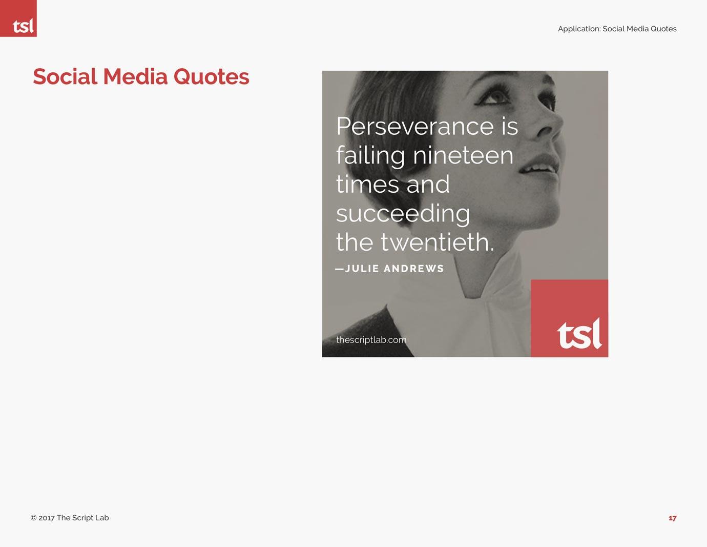 The Script Lab social media image design