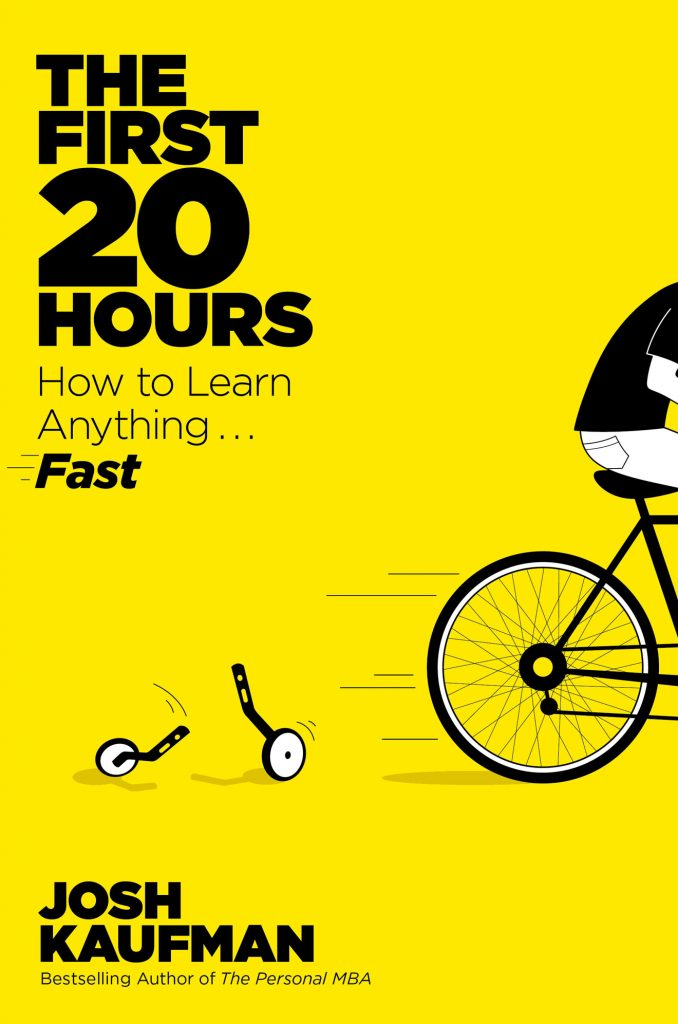 The First 20 Hours by Josh Kaufman book cover design